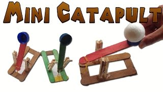 How to Make a Mini Catapult Easy (Medieval Toy ) How to make a simple catapult made out of mostly Popsicle sticks, that launches