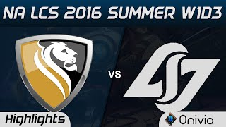 apx vs clg highlights game 2 na lcs 2016 summer w1d3 apex vs counter logic gaming