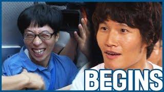[RUNNINGMAN BEGINS] [EP 7-2]   RACE BEGINS! Jaeseok is a loophole!! XD (ENG SUB)