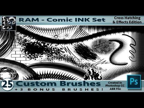 RAM Photoshop CC Custom Comic Inking Brushes