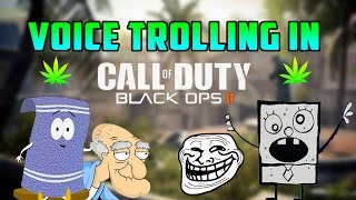 VOICE TROLLING IN BLACK OPS 2: Towelie Finds Doodlebob On Xbox! (Gamertag Trolling & Voice Trolling)