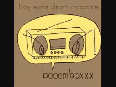 boy eats drum machine