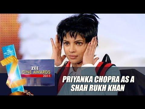 Priyanka Act As Shahrukh Khan | Zee Cine Awards 2011