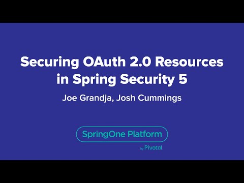 Securing OAuth 2 0 Resources in Spring Security 5 0 - YouTube