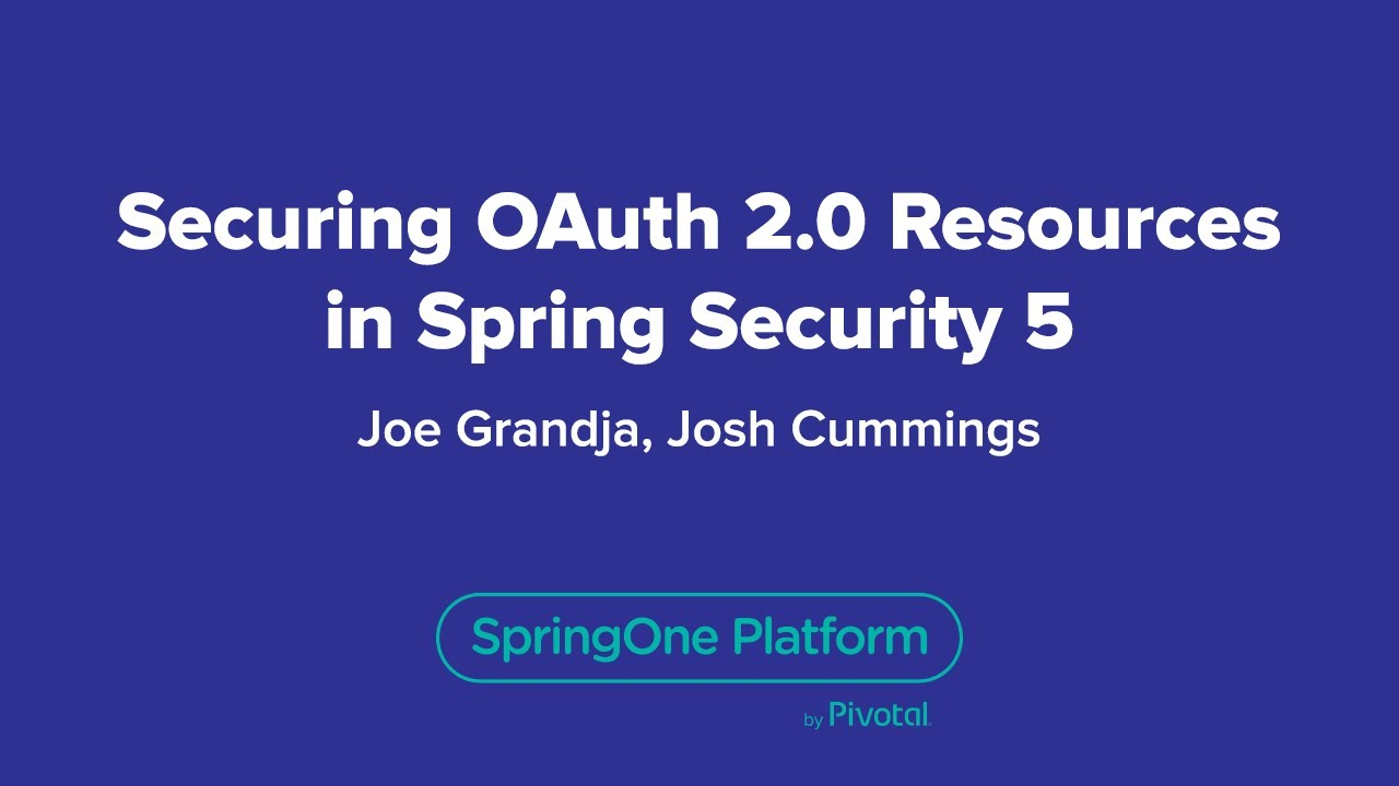 Securing OAuth 2 0 Resources in Spring Security 5 0