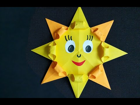 Солнце схема оригами