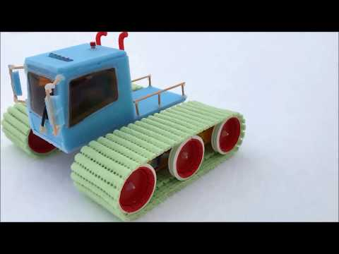 How to Make a RC Tracked Vehicle Tucker Sno-Cat - Amazing Toy DIY