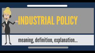 What is INDUSTRIAL POLICY? What does INDUSTRIAL POLICY mean? INDUSTRIAL POLICY meaning & explanation