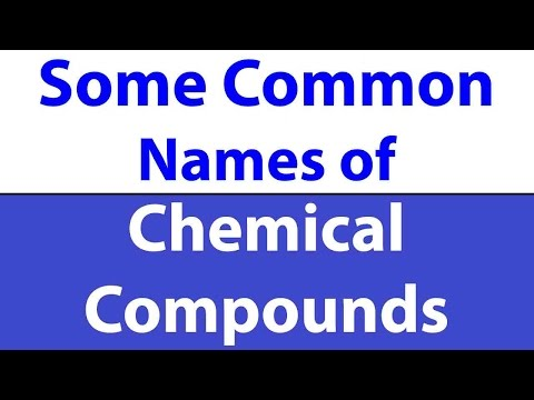 Common Names of Chemical Compounds || SSC Exam 2017