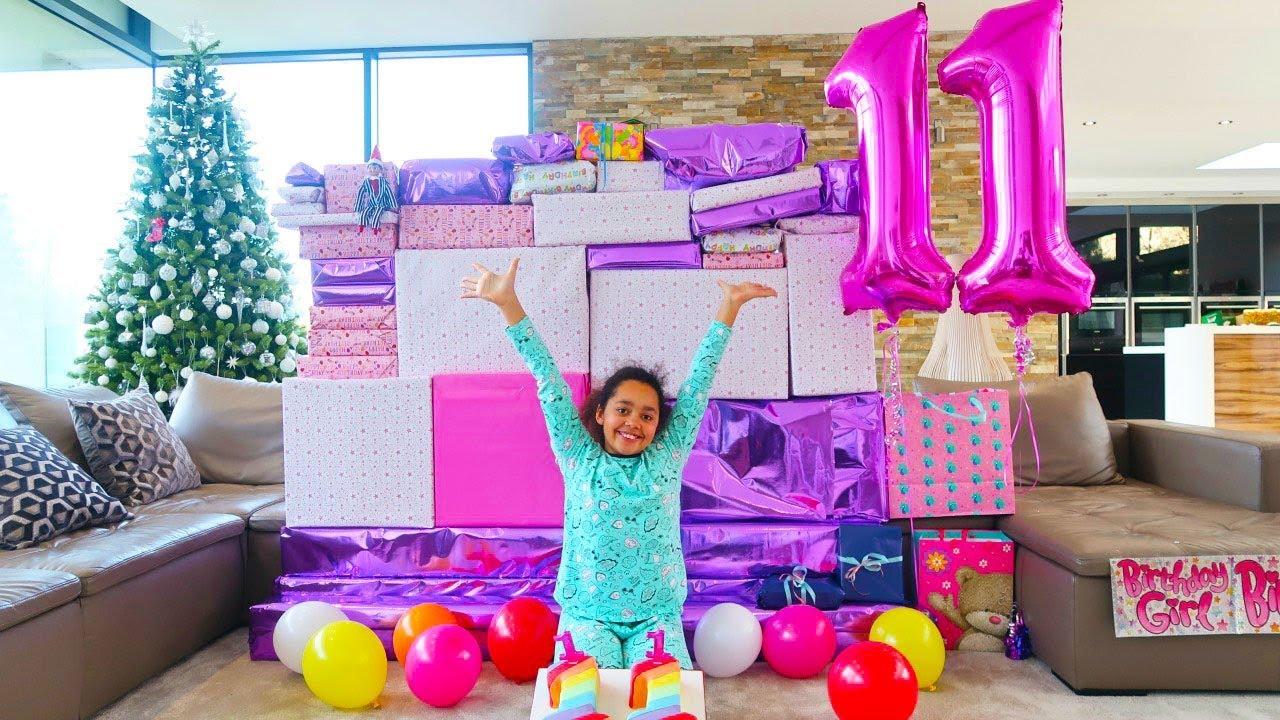 c35068fe682 TIANA S 11th BIRTHDAY PARTY OPENING PRESENTS!!! - YouTube
