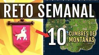 RETO CUMBRES DE MONTAÑA: SEMANA 6 | FORTNITE BATTLE ROYALE