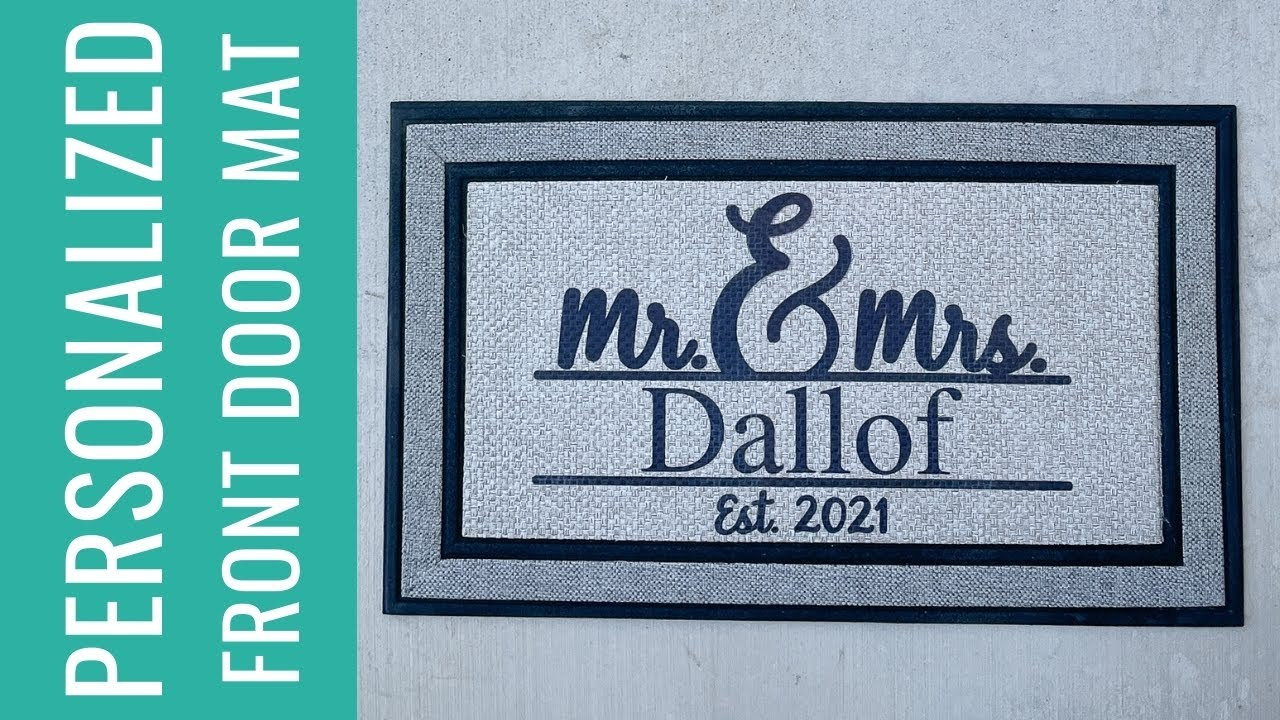 How to Make a Personalized Front Door Mat with Sublimation