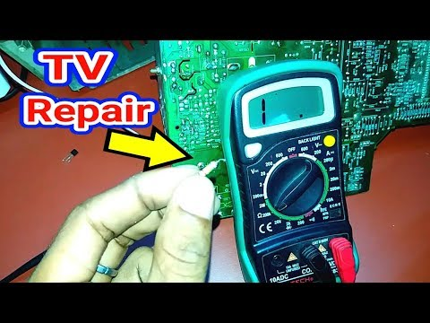 DIfficult Problem Power Supply Fault in TV Repair.Hindi