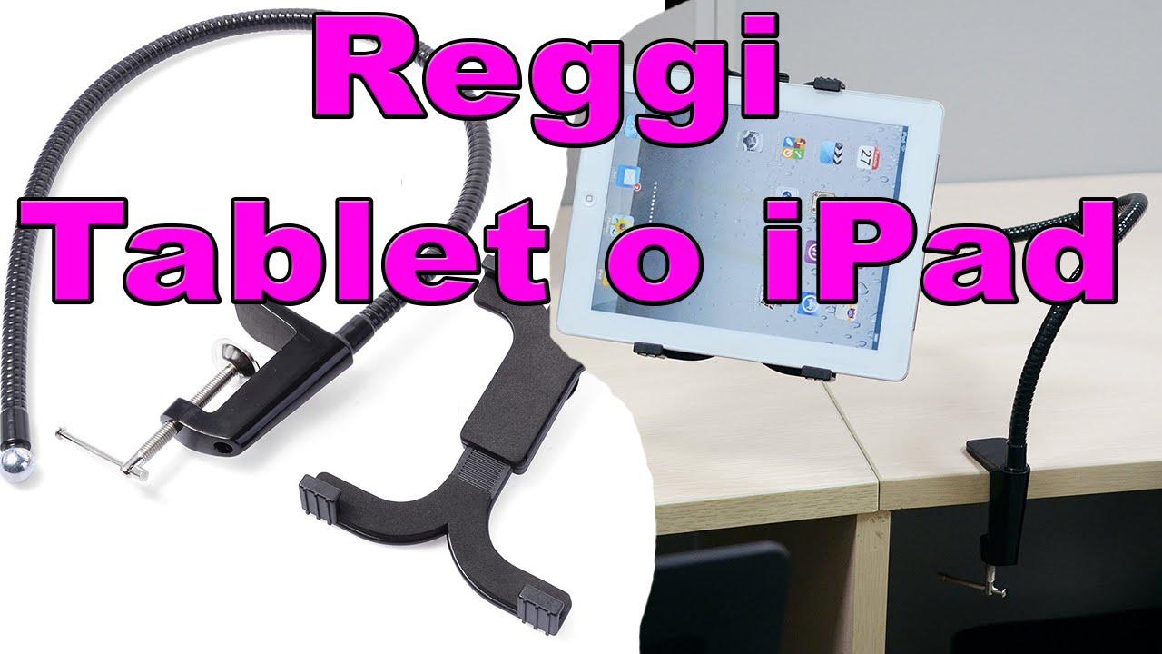 Reggi tablet o ipad supporto regolabile da letto casa ufficio youtube - Supporto per ipad da letto ...