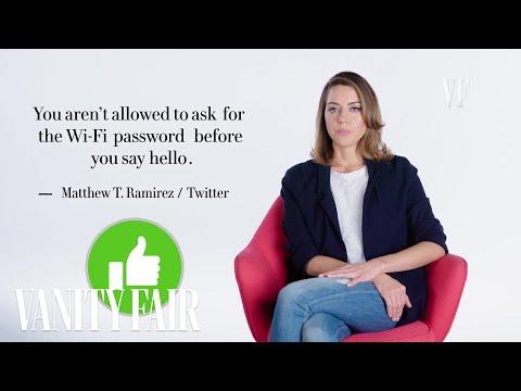 Aubrey Plaza Responds to Social Media Etiquette | Vanity Fair