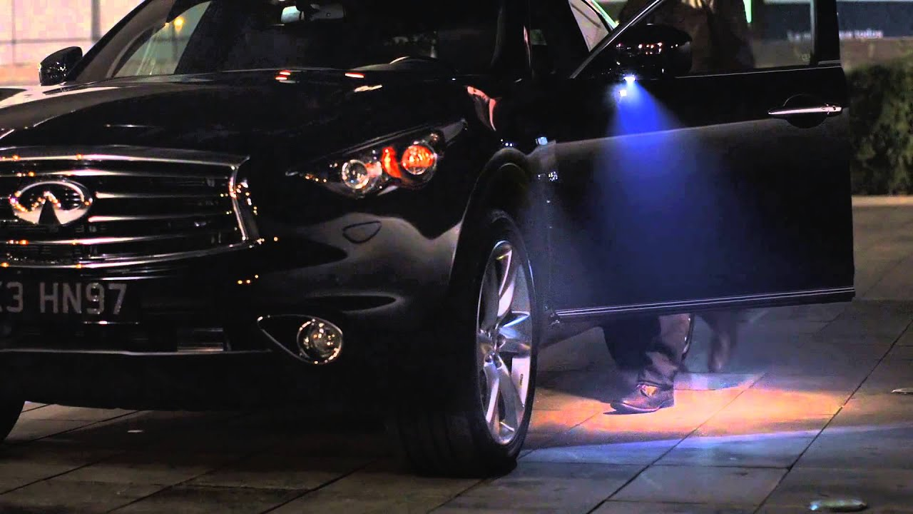 Infiniti QX70 - Welcome Lighting: A Glimpse - YouTube