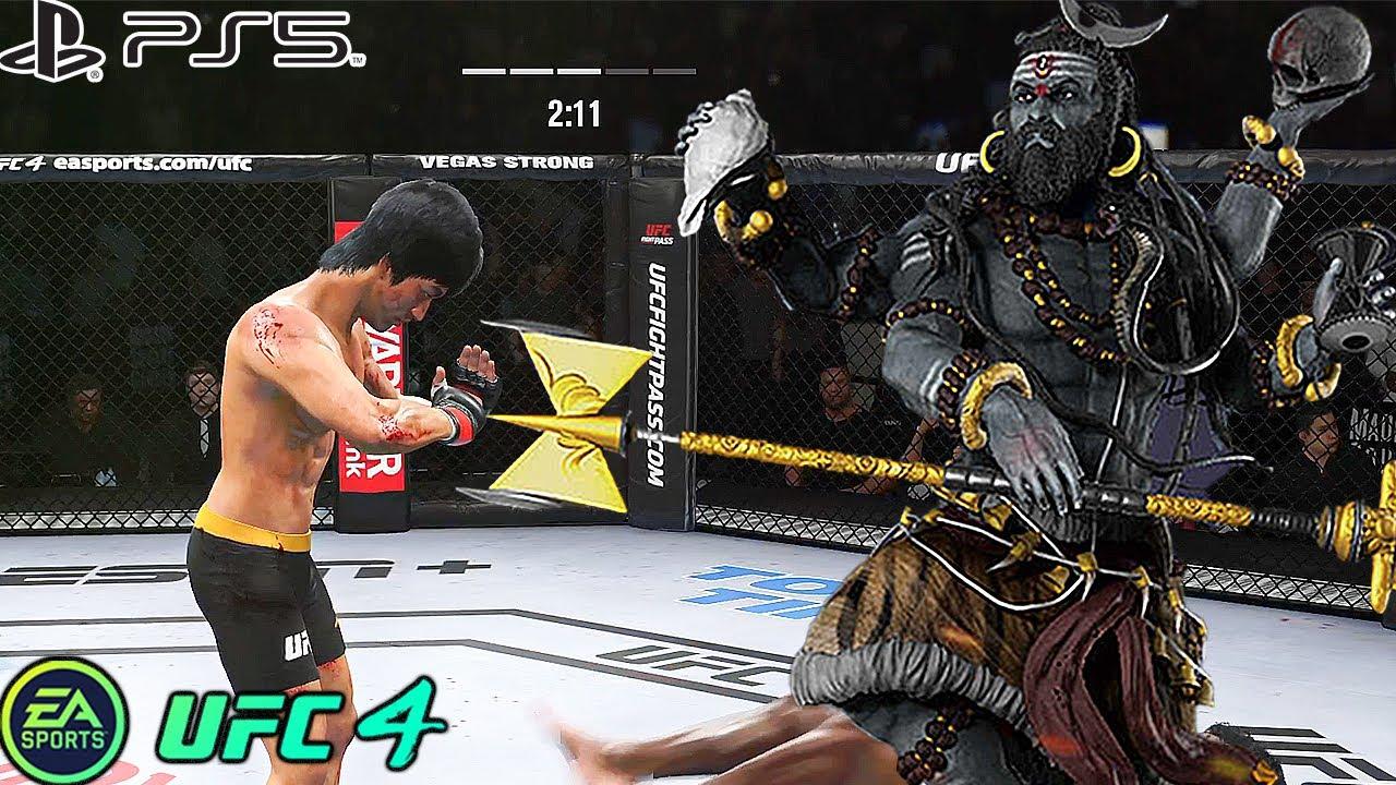 UFC 4   Bruce Lee VS Mahadeva    PS5