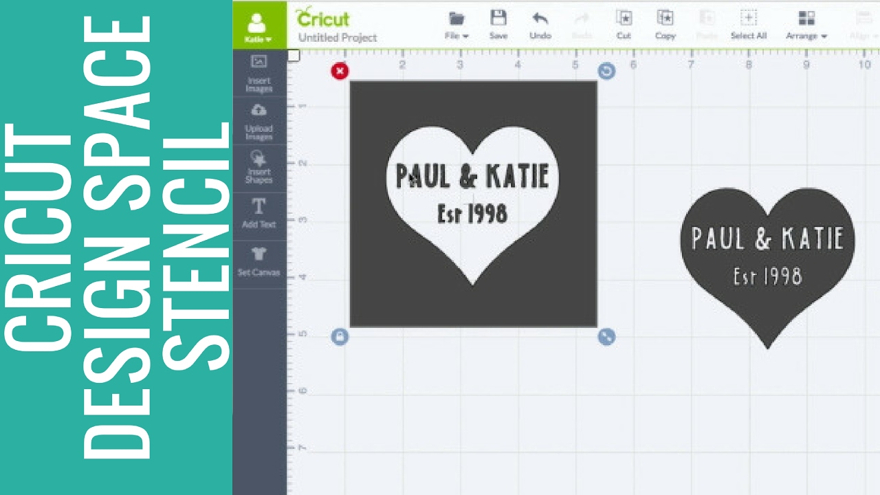 How to Make a Stencil in Cricut Design Space   YouTube