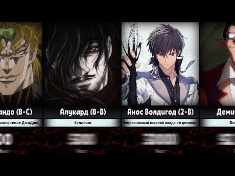 Сильнейшие Демоны и Вампиры в Аниме