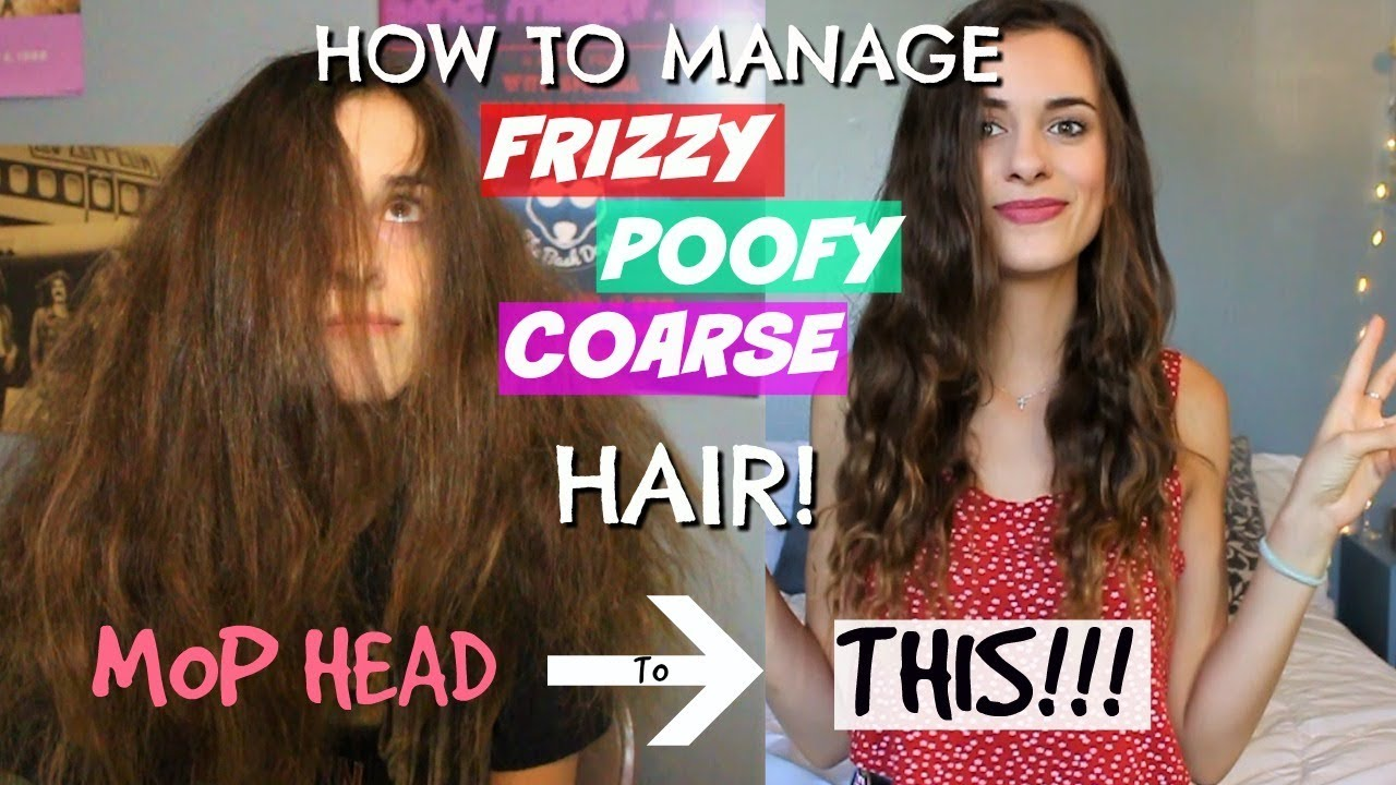 How To Manage Wavy Frizzy Poofy Hair My Updated Hair Care Routine Poofy Hair Hair Care Routine Frizzy Hair Routine