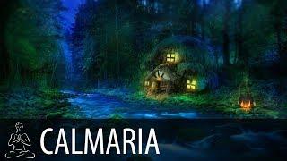 🎧 CASINHA NA FLORESTA ~ Pássaros, Noite, Rio, Sinos ~ Relaxar, Acalmar, Dormir ~ CALMARIA ~ ♫079
