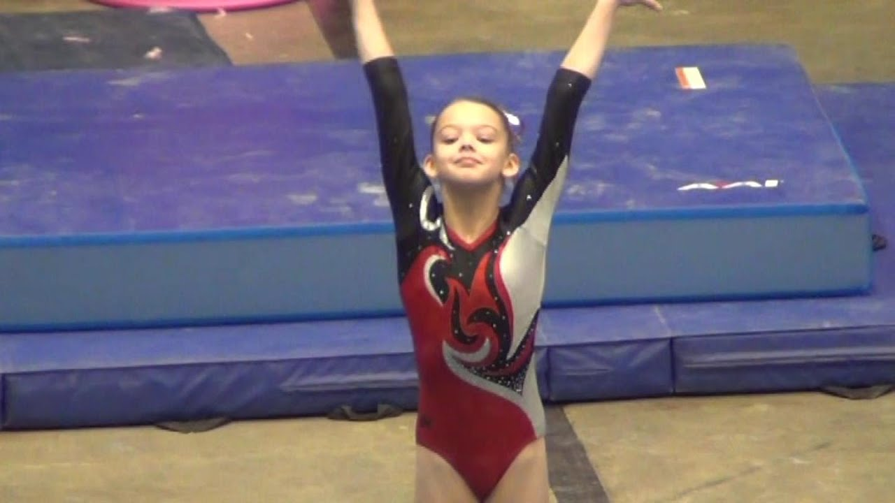 Whitney Bjerken | 2nd Level 7 Gymnastics Meet | The Gala - YouTube