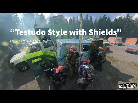 Testudo Style with Shields - Play Paintball - #2