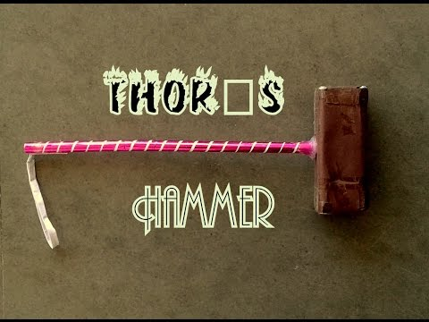 How to Make Thor Hammer - Paper Hammer (Thor is Back)