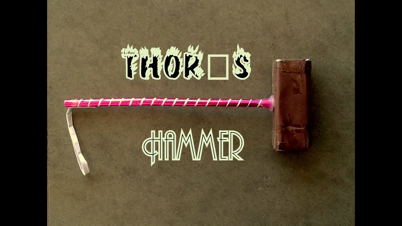 how to make thor hammer paper hammer thor is back youtube