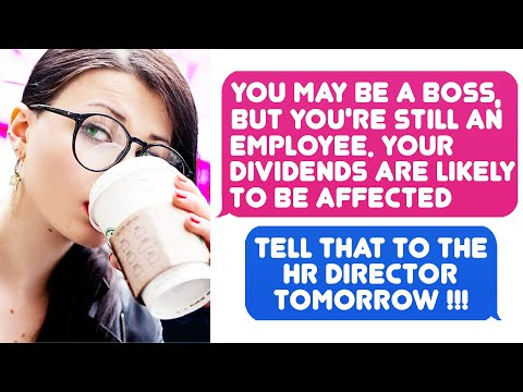 You May Be A Boss, But You're Still An Employee. You Won't Get Any Dividends! r/MaliciousCompliance