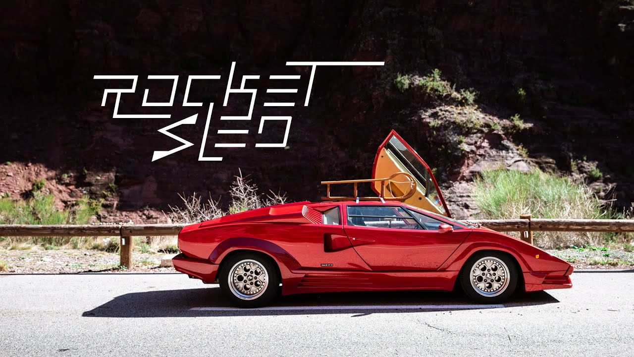 1988 Lamborghini Countach 25th Anniversary The Rocket Sled Youtube
