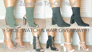 Zooshoo Try-On Haul + GIVEAWAY (Shoes, Hair, Watch)   6 Winners ft. Jord & YWigs