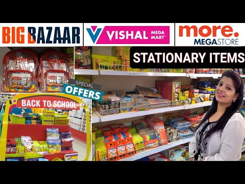 15₹ to 500₹ Stationery ITEMS ! - Big Bazaar + Vishal Mega Mart + More Mega Store Tour