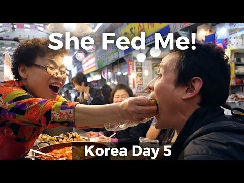 Best Korean Street Food in Seoul at Gwangjang Market: She Fed Me! (Day 5)