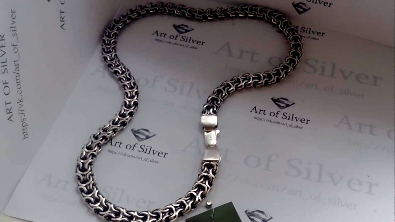Цепочка из серебра с плетением
