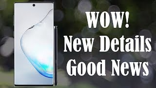 Galaxy Note 10 is INSANE - New Details + Good News
