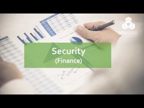 What is Security? (Finance) - OpenCourse Academy