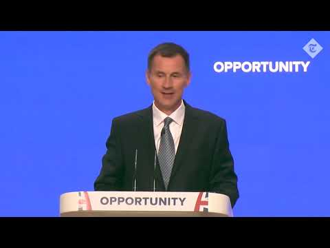 Jeremy Hunt's Conservative Party Conference speech 2018