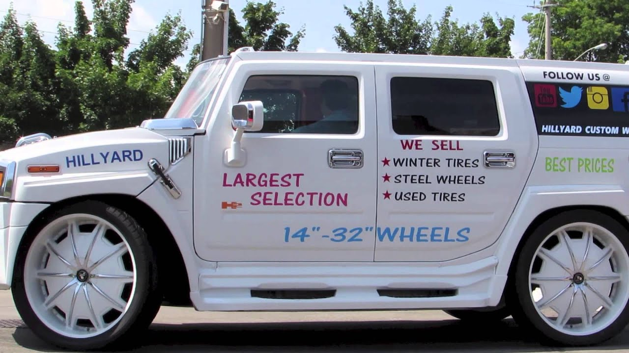 HILLYARD CUSTOM RIM&TIRE WORLDS MOST EXPENSIVE HUMMER H2 WHITE
