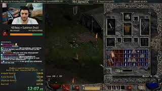 Diablo 2 - Hell Hardcore Assassin WR Speedrun Attempt!