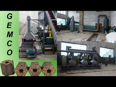 Sawdust briquetting machines of Gemco Machinery installed in Russia 500 kg /h briquetting project