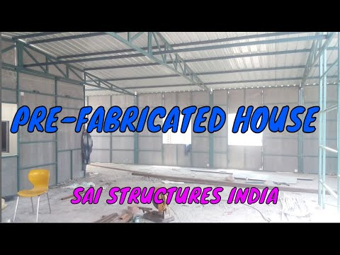 CONSTRUCTION AND ERECTION OF PRE-FABRICATED HOUSE ON TERRACE SAI STRUCTURES INDIA#DELHI#JPF1995