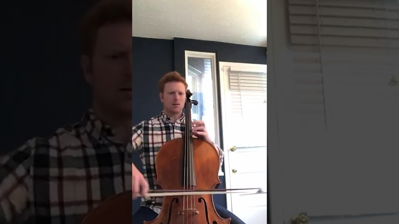 """Artwork representing """"Gigue"""" performed by Assistant Principal Cello Abraham Feder"""