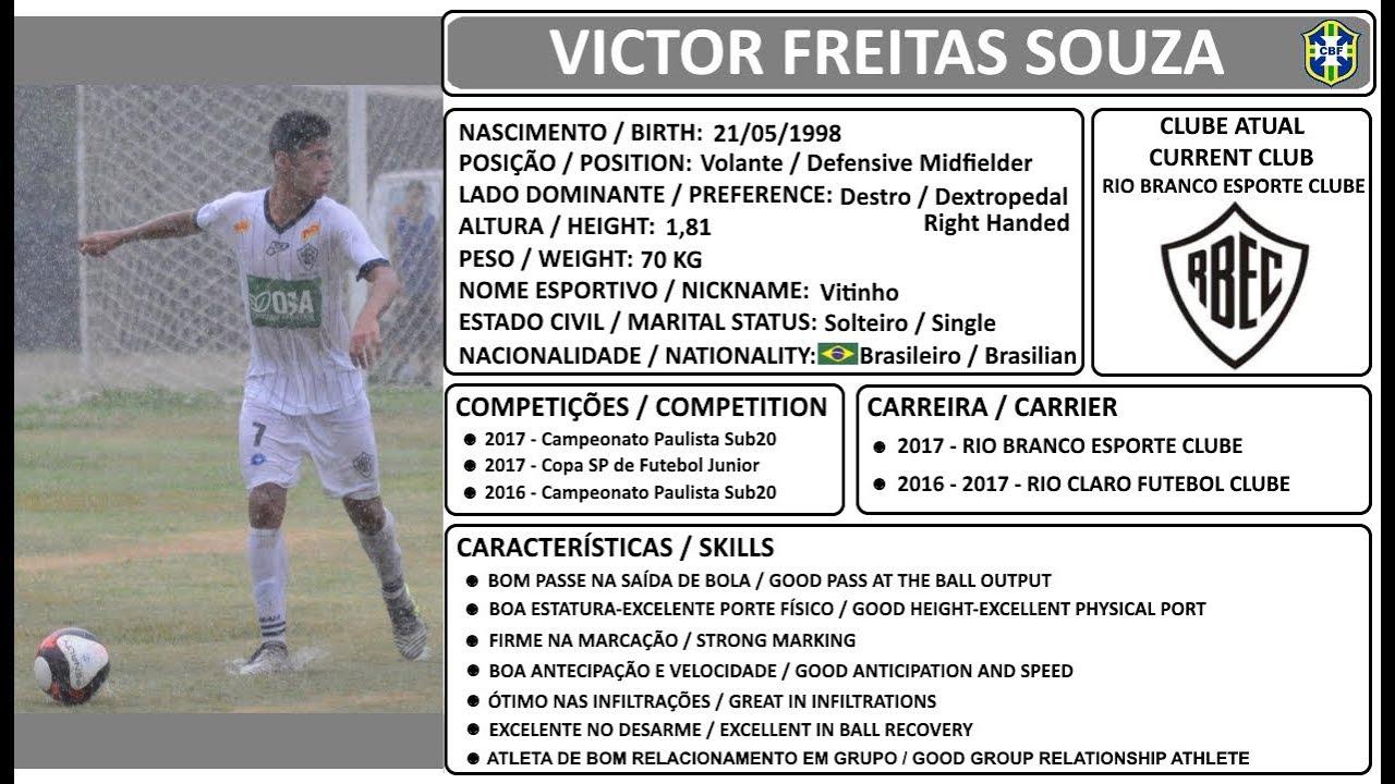 Victor Freitas - Volante - Defensive Midfielder - 98