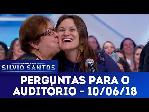 Perguntas para o auditório | Programa Silvio Santos (10/06/18)