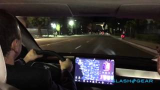 Tesla Model 3 first-ride