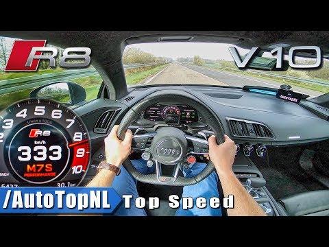 AUDI R8 V10 PLUS | AUTOBAHN POV 333KM/H | ACCELERATION & TOP SPEED by AutoTopNL