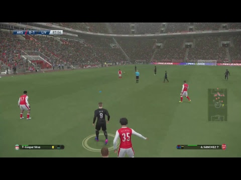 PES2017- Arsenal FC vs Liverpool FC - players view