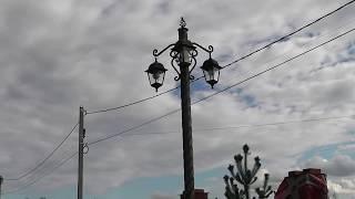 видео Уличный фонарный столб, кованые фонари, лампы