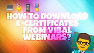 How to download e-certificates from webinars? | Vibal Group #LearnAsOnePh | Tutorial Video